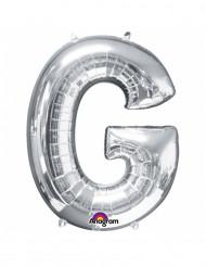 Riesen Folienballon Buchstabe G silber 63 x 81 cm