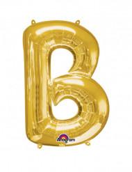 Riesiger Aluminium-Ballon B gold 58 x 86 cm