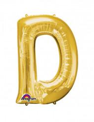 Riesiger Aluminium-Ballon D gold 60 x 83 cm