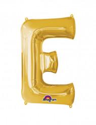 Riesiger Aluminium-Ballon E gold 53 x 81 cm