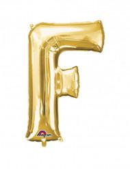 Folienballon Buchstabe F gold 53  x 81 cm