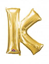 Folienballon Buchstabe K gold 66  x 83 cm