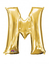 Folienballon Buchstabe M gold 81  x 83 cm