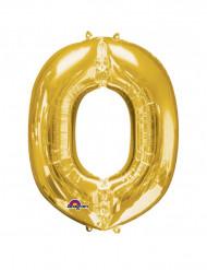 Aluminium Ballon Buchstabe O gold  60  x 83 cm