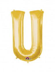Riesiger Aluminium-Ballon U gold 58 x 83 cm