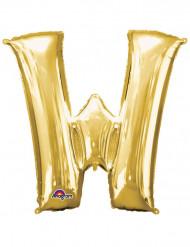 Riesiger Aluminium-Ballon W gold 71 x 83 cm