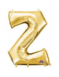 Riesenballon Buchstabe Z Farbe gold 63x83cm