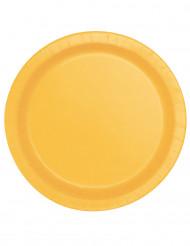 Pappteller-Partyzubehör Partyteller 16 Stück gelb 22 cm