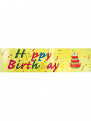 Happy Birthday Spruchband gelb 0,16 2,44m