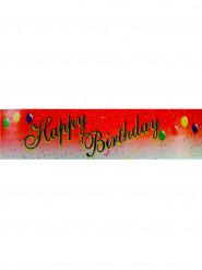 rotes Happy Birthday Spruchband