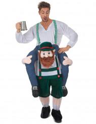 Kostüm Mann auf dem Rücken eines Bayern