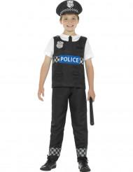 Polizisten Kostüm schwarz und weiß für Jungen