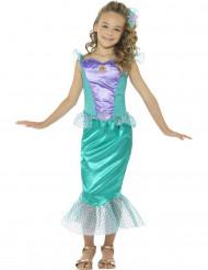 Meerjungfrau Kostüm für Mädchen in blau