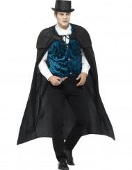 Vampirkostüm für Herren schwarz und weiß