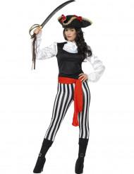 Kostüm trendiger Pirat für Frauen