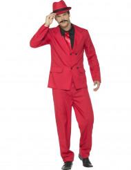 Rotes Gangster-Kostüm für Herren