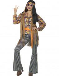 Hippie-Sängerin-Kostüm für Damen 60er-Jahre