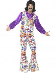 Schrilles 60er-Jahre Hippie Kostüm für Herren bunt
