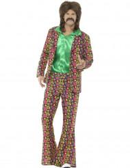 Hippie-Kostüm für Männer Peace bunt
