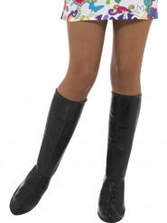 Schwarze Stiefelgamaschen Damen