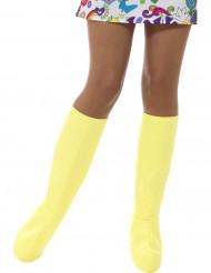 Stiefelgamaschen gelb Damen