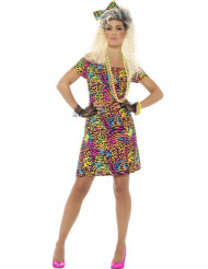 Leoparden-Kostüm für Damen 80er-Jahre