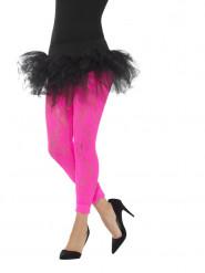 Leggings in Neonpink Spitze für Damen