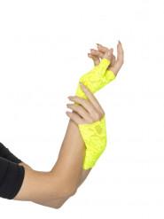 Neon gelbe Spitze Fäustlinge Damen