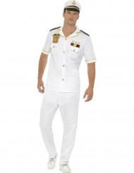 Kostüm Kapitän für Herren weiss