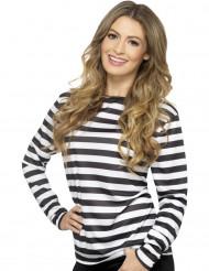 T-Shirt für Erwachsene mit schwarzen und weißen Streifen