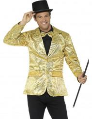 Disco-Jacke für Herren mit Pailletten in gold
