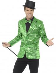 Disco-Jacke für Herren mit Pailletten in grün