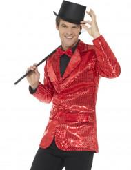 Disco-Jacke für Herren mit Pailletten in rot