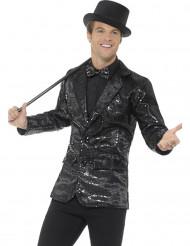Disco-Jacke für Herren mit Pailletten in schwarz