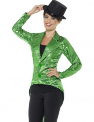 Grüne Paillettenbluse für die Frau