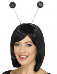 Stirnband schwarz-glitzernd für Erwachsene