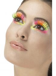Lange falsche Wimpern mehrfarbig für Erwachsene
