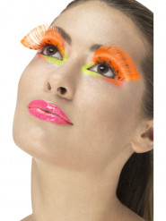 Falsche Wimpern in Orange Erwachsene