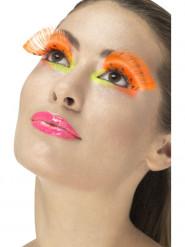 Falsche Wimpern in Orange Erwachsene