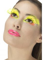 Falsche Wimpern in Gelben für Erwachsene