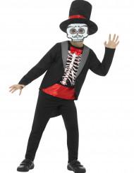 Halloween Kostüm Gentleman-Skelett für Jungen