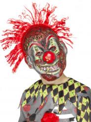 Skelett Maske Verrückter Clown für Kinder Halloween