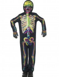 Skelett Kostüm für Kinder phosphoreszierend