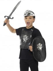 Ritter Kostüm-Set für Kinder schwarz-grau