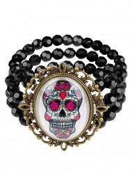 Tag der Toten Gothic Armband bunt