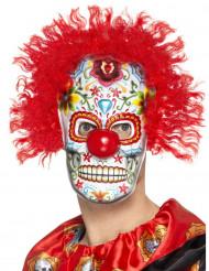 Clown-Maske für Erwachsene Dia de los Muertos