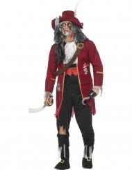 Kostüm als Zombiepirat für Herren rot