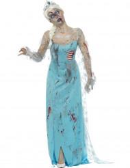 Zombie-Halloween-Kostüm gefrorene Frau