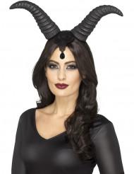 Dämonische-Teufelshörner Halloween Accessoire schwarz
