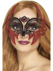 Maske Maskenball Fledermaus Metall Damen Halloween